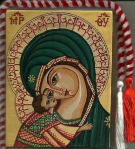 Maica Domnului cu Pruncul Iisus cu un ochi comun
